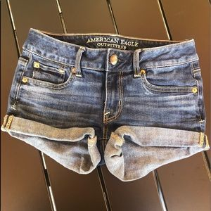 🌵American Eagle denim shorts size 0 shortie